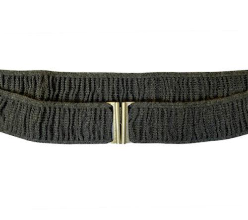 stretch grey elastic belt