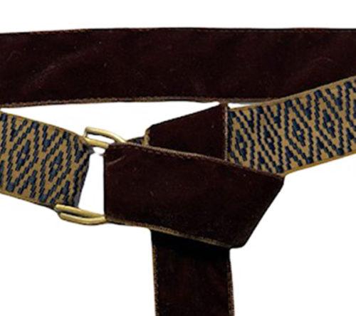 Camel and blue rhombus belt